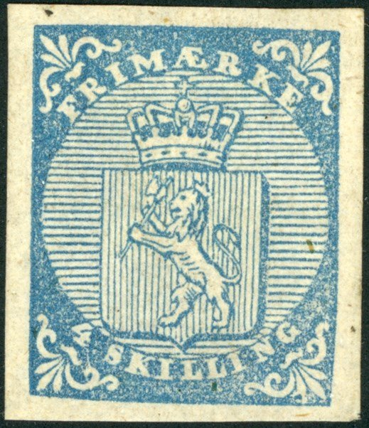 The first Norwegian stamp