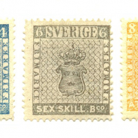 The first swedish stamps