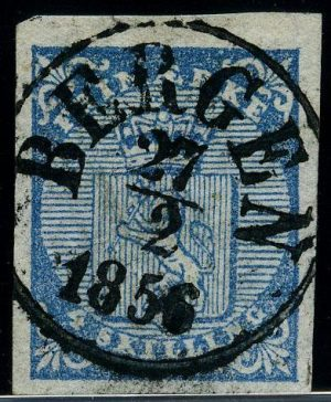 Read more about the article Cancellation types on the first Norwegian stamp