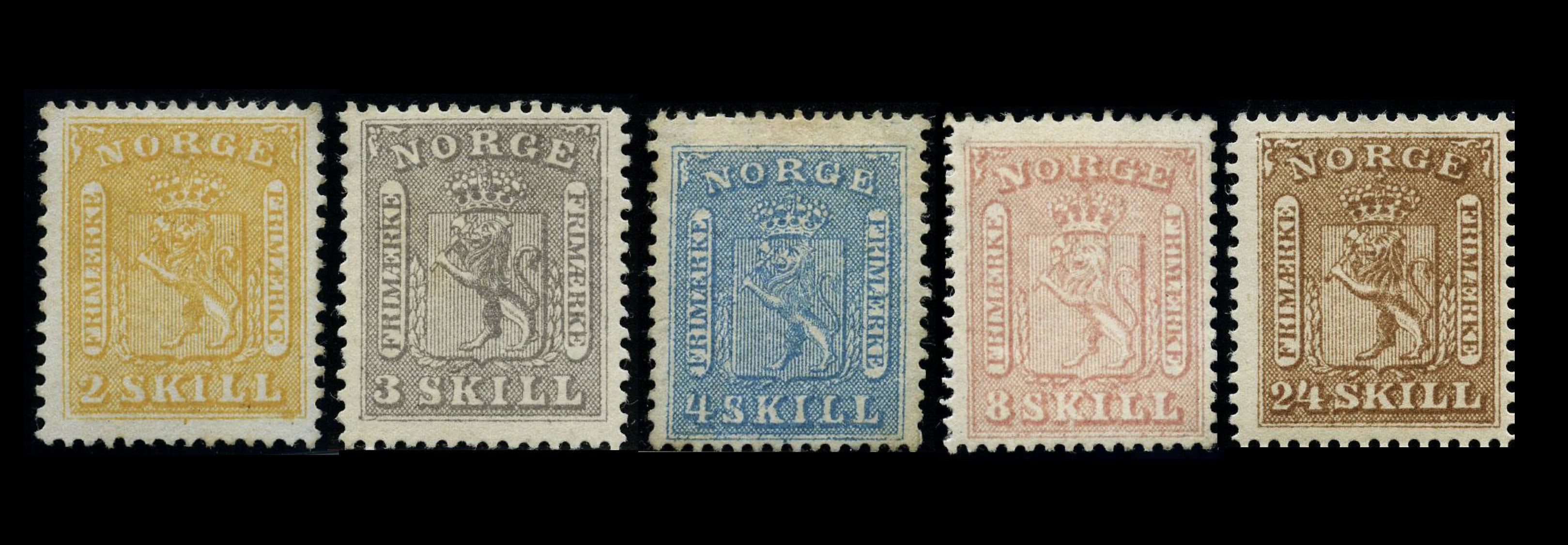 Norway 1863 -1866 Coat of Arms