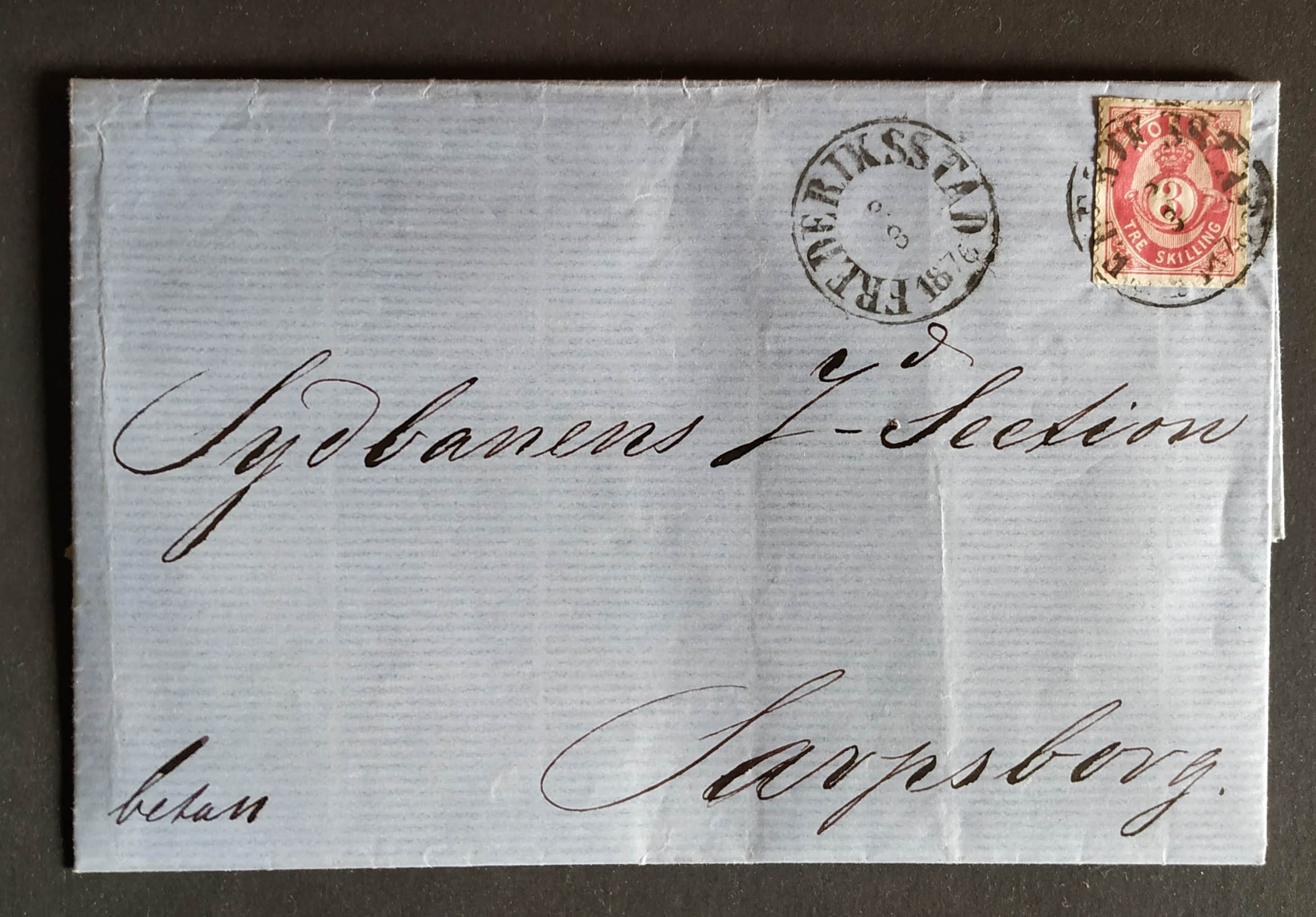 A tiny postal fraud in 1876